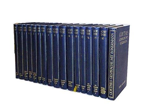 Goethes Werke in 16 Bänden + 1 Bd (Goethes Gespräche mit Eckermann). Insel-Ausgabe. Komplett. Herausgegeben von Hans Gerhard Gräf, Carl Schüdekopf, Kurt Jahn, Max Hecker, Fritz Bergemann und Franz Dei