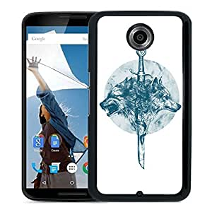 New Fashion Custom Designed Cover Case For Google Nexus 6 With wolves Black Phone Case