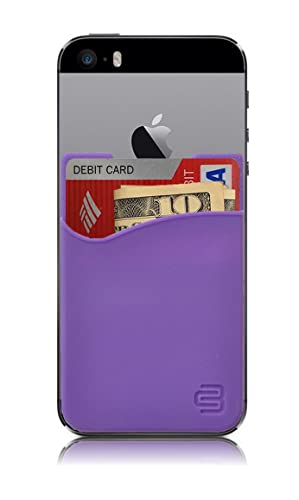 sneakers for cheap 89842 4b734 CardBuddy Stick On Card Holder Wallet, Credit Card Phone Wallet Case for  Any iPhone or Android (Purple)