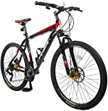 Merax Finiss 26' Aluminum 21 Speed Mountain Bike with Disc Brakes