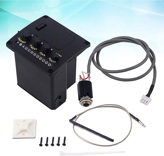 5 BäNder Akustik Gitarren Ton Abnehmer EQ Preamp LCD Tuner Equalizer mit Mi O2S7