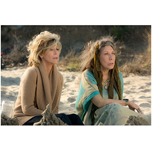 grace-and-frankie-jane-fonda-and-lily-tomlin-seated-in-sand-8-x-10-inch-photo