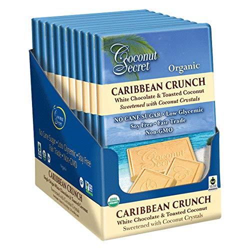 Coconut Secret Caribbean Crunch White Chocolate Bar, 2.25 Ounce (Pack of - Organic White Chocolate