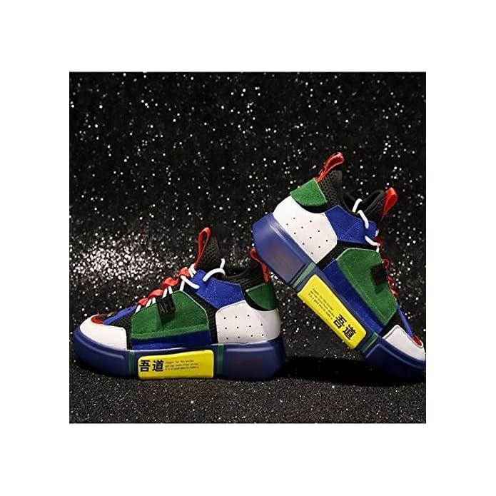 Zhznvx Scarpe Da Donna Pelle Scamosciata nappa Primavera estate Comfort Sneakers Creepers Punta Chiusa Bianco verde