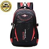 MAYZERO Kid's Outdoor Backpack School Bags Waterproof Travel Camping Bags (Red)