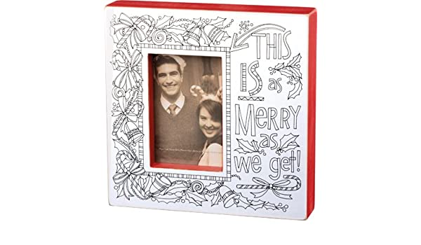 As Merry As We Get Wood Coloring Frame Amazon Ca Home Kitchen