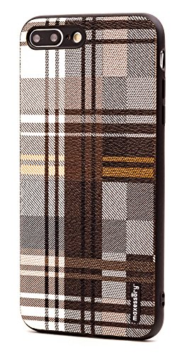 - iPhone 7 Plus Case, iPhone 8 Plus (5.5 inch) Case, Maxessory Brown Tartan Ultra-Slim Luxury Premium Full-Body Hard Plaid Pattern Protective Full Body Shell Brush Texture Armor Cover