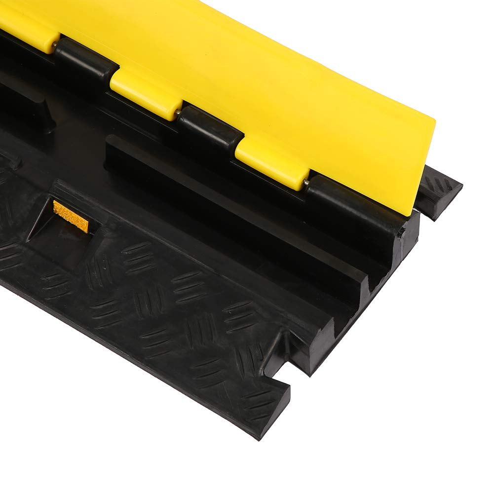 100 x 25 x 8cm Schwarz Kabelbr/ücke Bodenschwelle aus hochfestem Gummibasis und PVC-Deckel 100 x 25 x 8cm 1 Kanal Kabelkan/äle,Gelb
