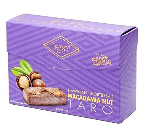 Shortbread Cookies Hawaiian - Diamond Bakery Premium Hawaiian Macadamia Nut Shortbread Cookies, Taro