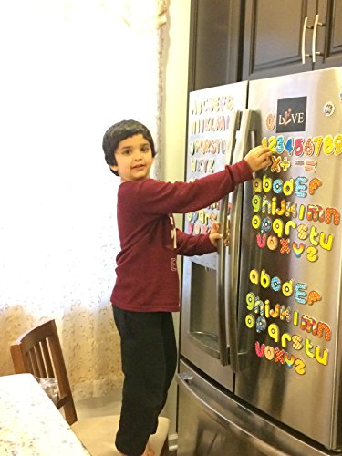 Jumbo (Related to Other Products) Magnetic Letters - Alphabet Fridge Magnets - 26 Upper Case ABC and 26 Lower Case ABC - Set of 52 Letter Kids Educational Fun Toy ()