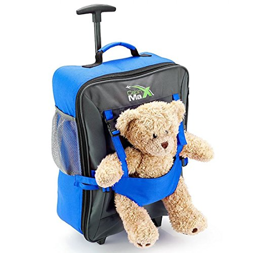 Cabin Max Bear Childrens Luggage Carry on Trolley Suitcase (Blue)