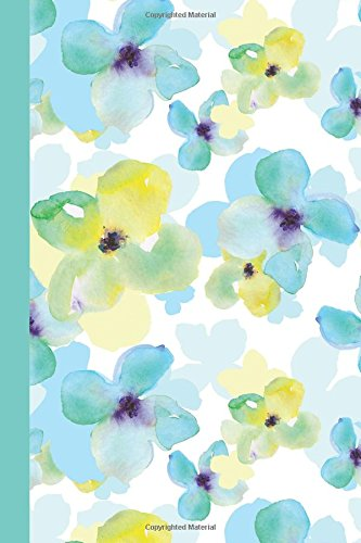 Journal: Watercolor Spring Flowers 6x9 - DOT JOURNAL - Journal with dotted pages (Watercolor Flowers Dot Journal Series)