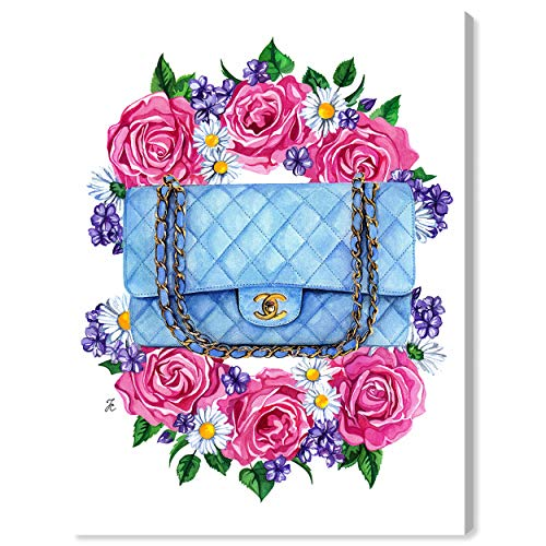 The Oliver Gal Artist Co. Fashion and Glam Wall Art Canvas Prints 'Doll Memories - Pastel Blues' Home Décor, 18