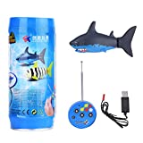 Mini RC Shark Toy Remote Control Fish Boat Kids Fish Toy with USB Cable