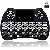 Backlit Mini Wireless Keyboard, BIFANS Air Mouse Portable Wireless Mini Keyboard with Touchpad Mouse, Wireless Mini Keyboard for PC TV Box HTPC IPTV PC Pad Xbox Tablet