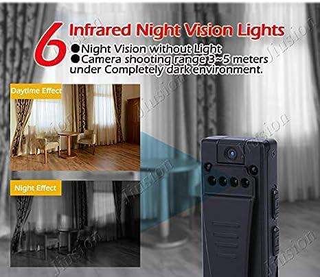 Amazon.com : 2018 fire Mini Camera 1080p hd Camcorder 6 Night Vision Lights Motion Sensor Webcam dv dvr Video Audio Recorder Sport Micro cam : Camera & ...