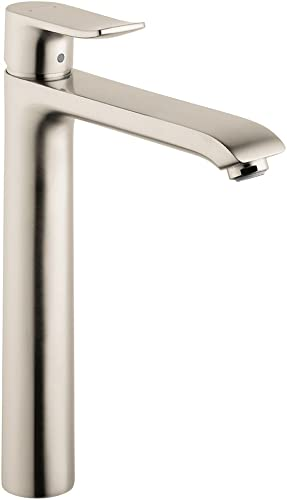 hansgrohe Metris Modern Upgrade Easy Install 1-Handle 1 5-inch Tall Bathroom Sink Faucet in Brushed Nickel, 31082821
