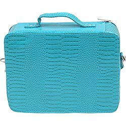 Primeware Cosmopolitan Insulated Adjustable Make Up Travel Organizer, Blue Turquoise