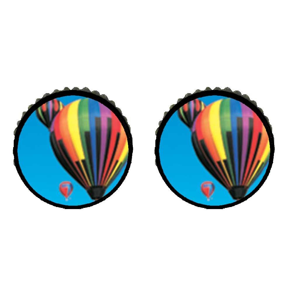 GiftJewelryShop Bronze Retro Style Hot Air Balloons Photo Stud Earrings 10mm Diameter