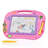 TTMOW Magnetic Drawing Board Games Toy Magna Doodle For Kids - Erasable Colorful Drawing Board Writing Sketching Pad For Kids Inspiration And Colors - Gift for Girls Boy Kids Children Travel Size (Pink)