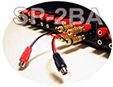 RCA Stereo Phono Jack To Gold-Plated Banana Plug Adapter Wire