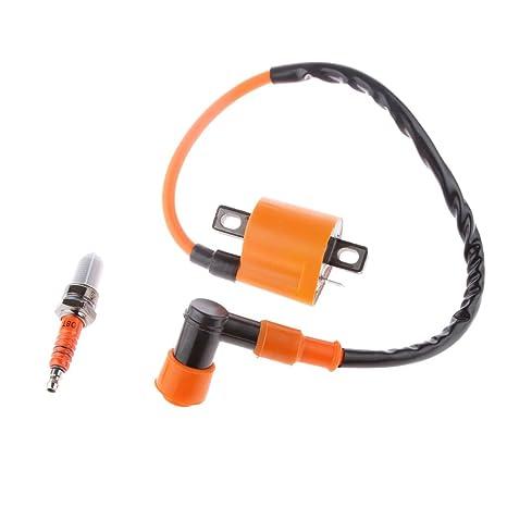 Bujía 3 Electrodos con Bobina de Encendido para CG 125 150 200 ATV Dirtbike