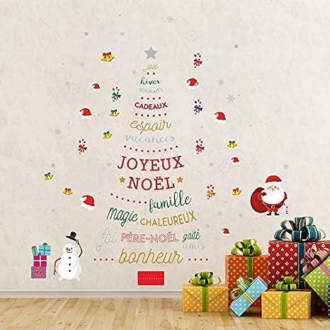 Walplus Merry Decoración De Navidad Regalo Francés Frase