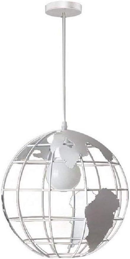 HDDD Earth Shape Globe Coppery Pendant Lighting Lámpara de techo de estilo industrial simple de hierro forjado