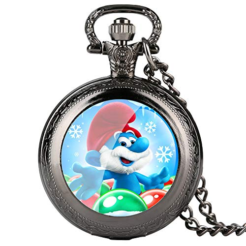 Fine Chain Black Pocket Watch for Kids, Cartoon Character, used for sale  Delivered anywhere in Canada