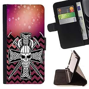 King Case - FOR Apple Iphone 6 - Time to change - Prima caja de la PU billetera de cuero con ranuras para tarjetas, efectivo Compartimiento desmontable y correa para la mu?eca