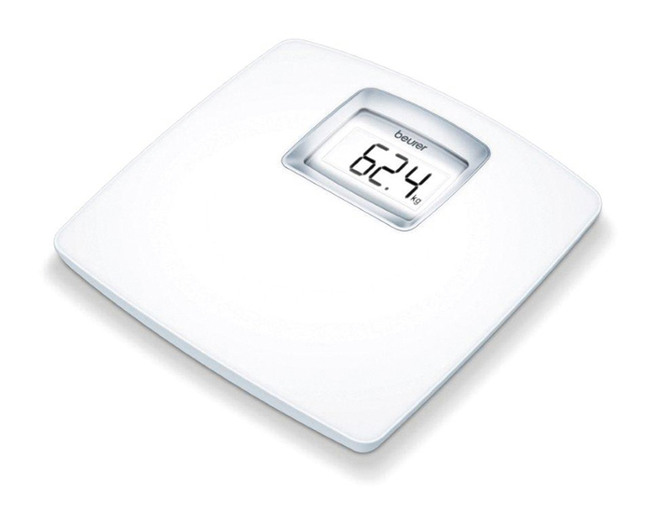 beurer ps25 luxury white acrylic bathroom digital scales xxl backlit lcd display ebay