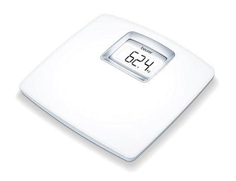 Beurer PS25 - Básculade baño con pantallaLCD iluminada, gran plataforma de 34 x 34.5 cm