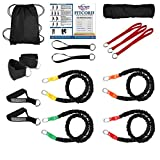 "FitCord ""ATHLETE"" Band Load Kits. Home & Portable Gyms include 4 Highest Grade Safety Sleeve Bands, Handles, Door Anchor, Ankle & Wrist Straps, Bag & Exercise Manual.."