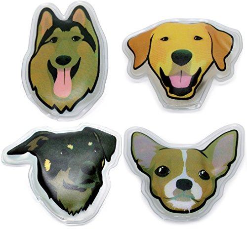 Filfia Handwärmer Wiederverwendbar, Taschenwärmer Set 4er Pack Hunde Motiv