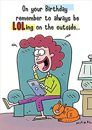 Amazon.com: Mujer Sobre sofá – Oatmeal Studios Que Ríe Funny ...