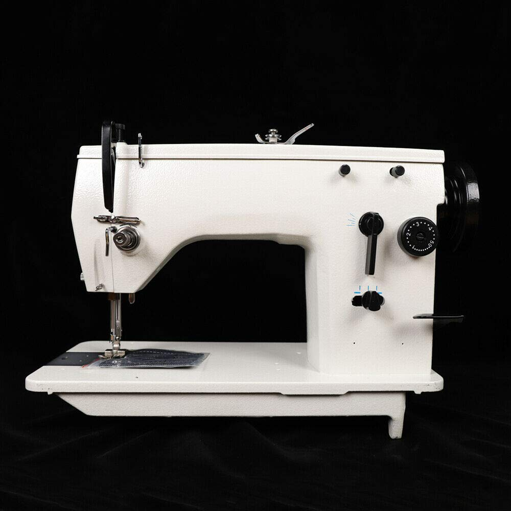 HYYKJ Industrial Straight Stitch Sewing Quilting Machine Straight Curved Knotted Seam Embroidered DPX5 Needle 8mm-12mm Zigzag Width Adjustable by HYYKJ-US