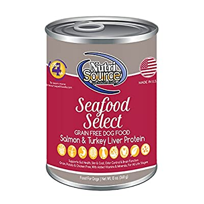 NutriSource Grain-Free Canned Seafood Select Dog Food Case of 12 - 13oz cans by NutriSource