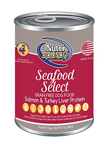 Picture of NutriSource Grain-Free Canned Seafood Select Dog Food Case of 12 - 13oz cans by NutriSource
