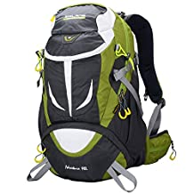 Doleesune Hiking Daypack Outdoor Waterproof Travel Backpacks 40L 8278 (Green, 40L)