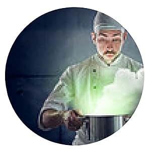 alfombrilla de ratón Chef de cocina un poco de materia verde - ronda - 20cm