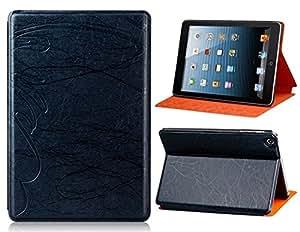 CECT STOCK Ramas del modelo Bi-Fold Faux funda de cuero con soporte para el mini iPad (Negro)
