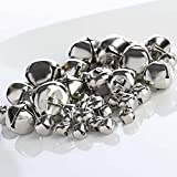 Bulk Bag of 172 Assorted Metallic Silver Jingle Bells for Crafting, Embellishing and Creating