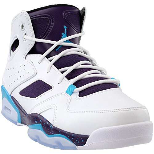 Jordan Mens Flight Club 91 White Blue Lagoon Purple Black Size -