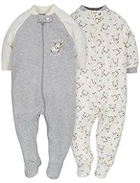 Baby Infant 2 Pack Organic Zip Front Sleep 'N Play