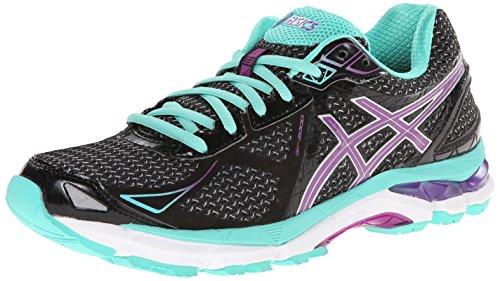 Asics Womens GT-2000 3 Running Shoe Black/Purple/Emerald