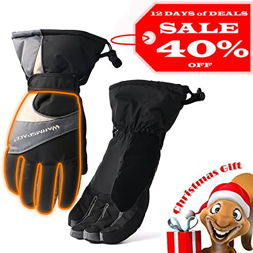 Heated Gloves Heating Palm and Five Fingers Winter Mobile Hands Warmers Rechargeable Battery Powered Electric Gloves 4-6 Hrs for Camping Hiking Cycling Motorcycle Skiing Men XL - Mall Great Hrs