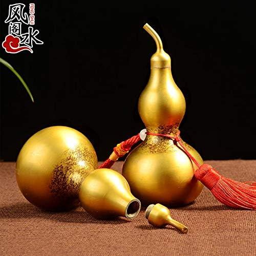 EBERMA Adornment,风水 Feng Shui Furnishing Articles 纯铜葫芦摆件八卦开盖光面葫芦摆件家居工艺品