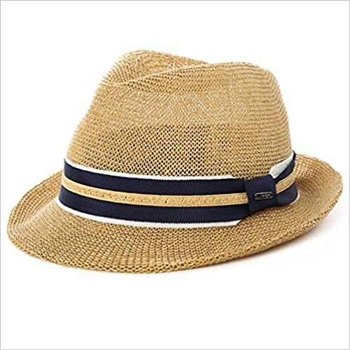 Siggi Mens Panama Summer Trilby Fedora Summer Sun Straw Hats Sunhat Unisex  56-59CM Beige 53f83fd3bbb0