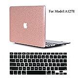 (US) Macbook Pro 13 inch Case, VTOSEN 2 in 1 BundleBling Glitter PC Hard Shell Cover Case with Keyboard Cover for Macbook Pro 13.3 inch with CD-ROM (Non-Retina)(Model:A1278) - Rose Gold