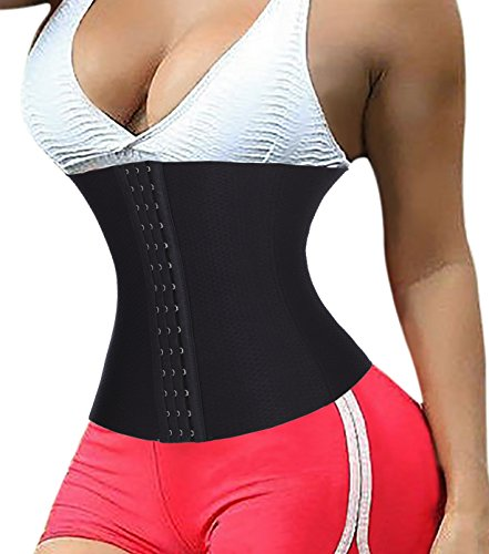 TAILONG Waist Trainer Corset for Weight loss Tummy Control Body Shaper (L, Black)